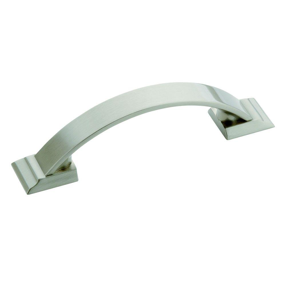 Amerock Candler 3 in 76 mm Satin Nickel Cabinet Pull