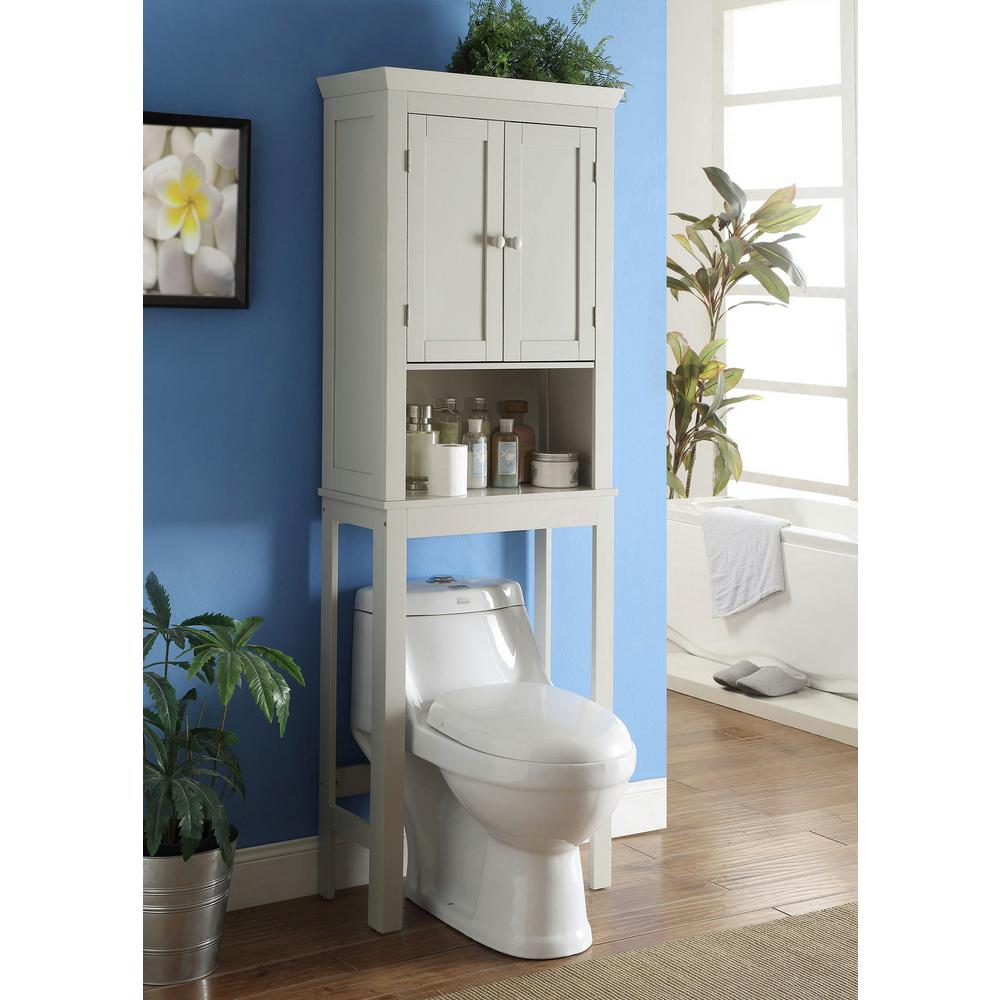 Bathroom Toilet Cabinets 4d Concepts Rancho 23 6 In W Space Saver Cabinet In Vanilla Cappuccino