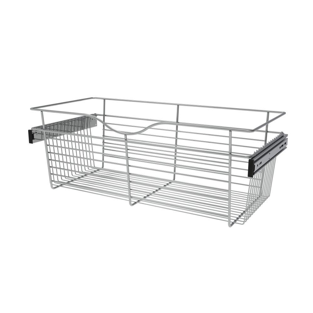 Rev-A-Shelf 30 in. x 11 in. Chrome Closet Pull-Out Basket