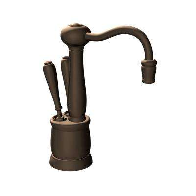 hc kitchen faucet cabinet knobs and handles mocha bronze faucets the home depot indulge antique 2 handle instant hot cold water dispenser in