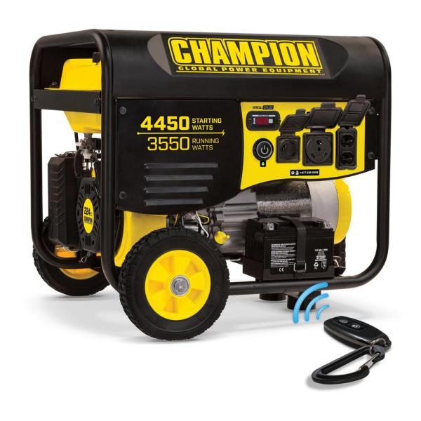 Champion Power Equipment 3550-watt Gasoline Powered Push Start Portable Generator With