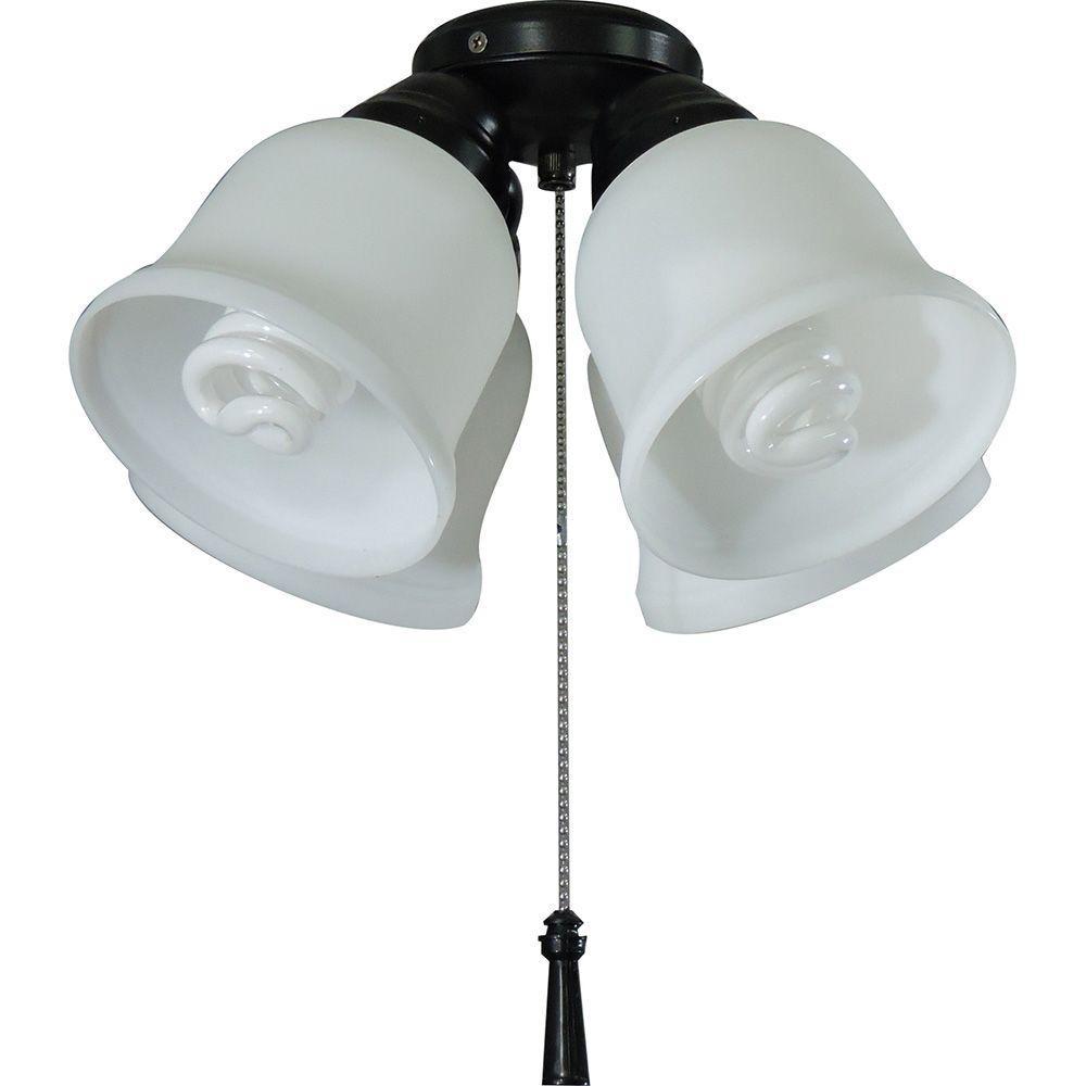 ceiling fan light kits microscope ray diagram physics hampton bay 4 universal kit with shatter resistant shades