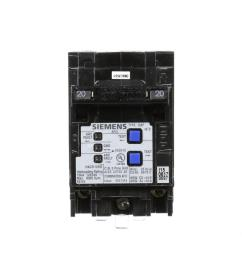 siemens type qaf 20 amp double pole combination afci circuit breaker [ 1000 x 1000 Pixel ]
