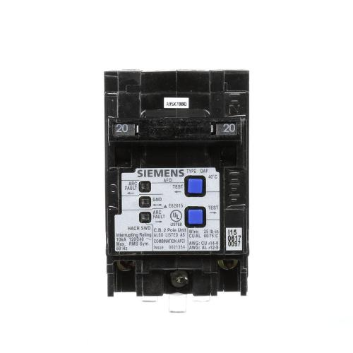 small resolution of siemens type qaf 20 amp double pole combination afci circuit breaker