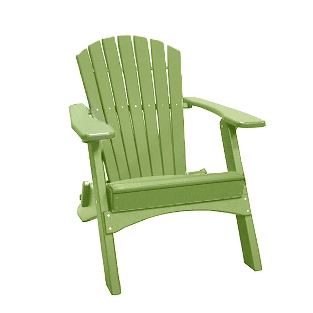 Lime Green Chairs Perfect Choice Lime Green Folding Recycled Poly Lumber Adirondack Chair