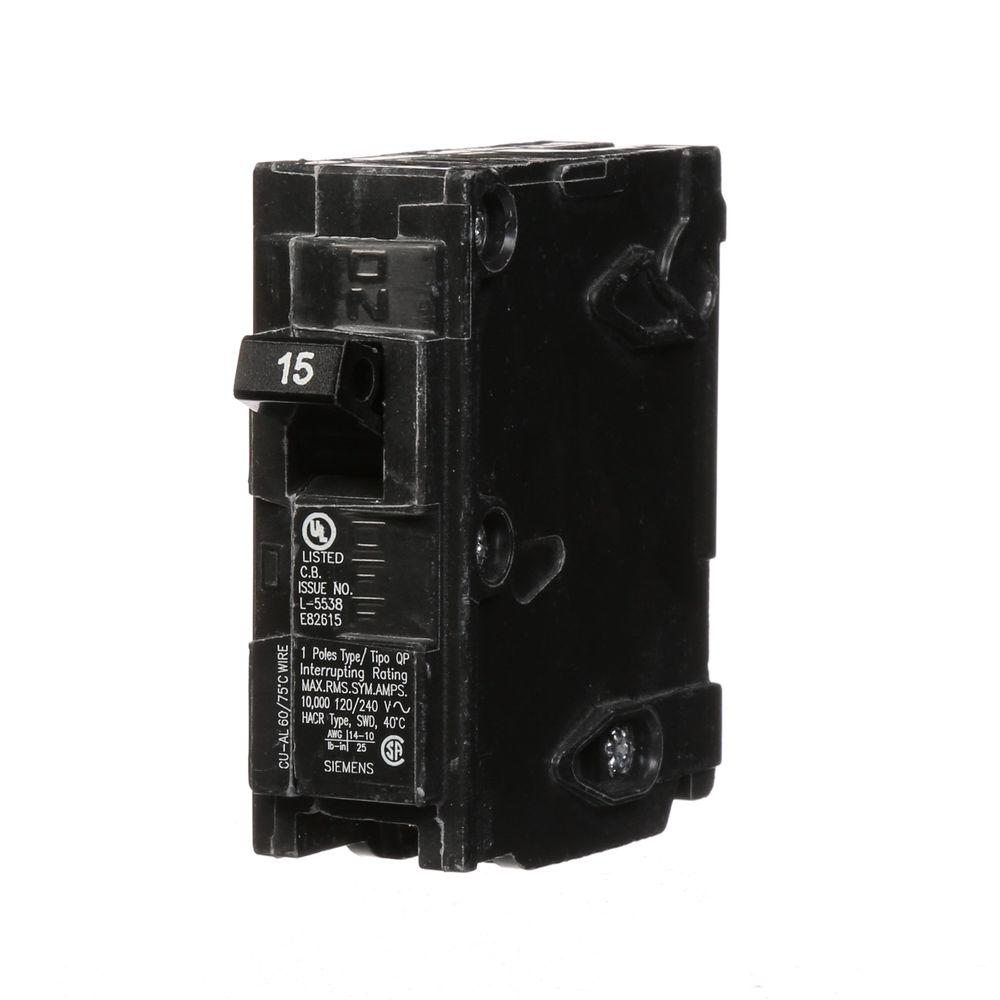 medium resolution of siemens 15 amp single pole type qp circuit breaker