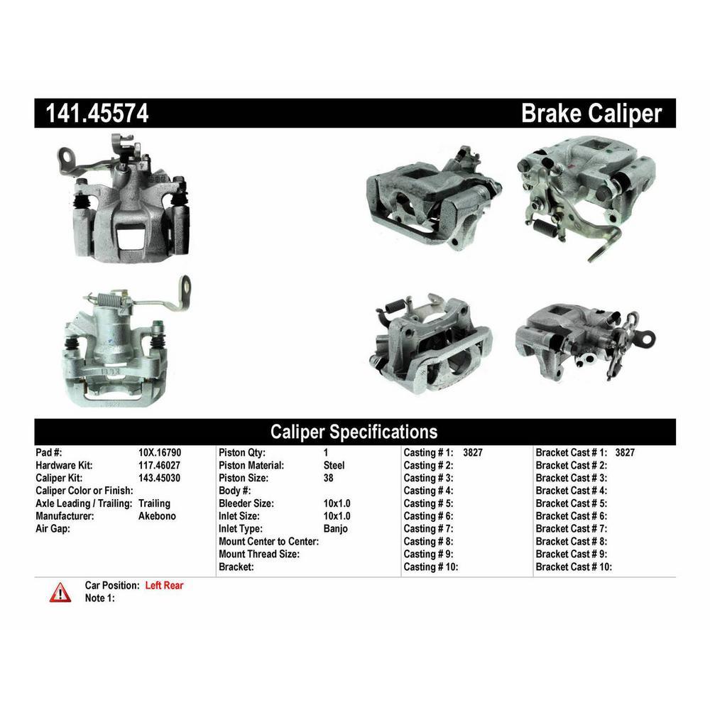 Centric Parts Disc Brake Caliper 2014-2015 Mazda 6 2.5L