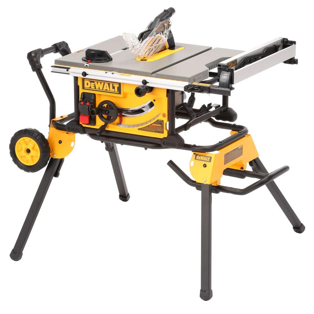 medium resolution of job site table saw with rolling stand