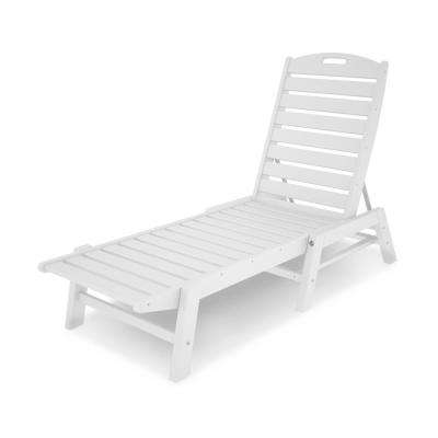 white plastic lounge chairs outdoor baby portable high chair chaise lounges patio the home depot in nautical