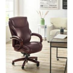 La Z Boy Trafford Big And Tall Executive Office Chair Vino Rattan Chairs For Sale Tafford Bonded Leather 45782 Hyland Coffee Brown