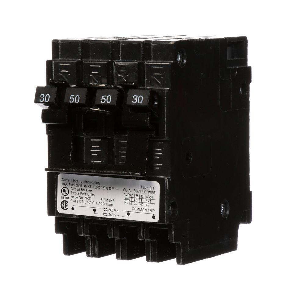 hight resolution of siemens quadplex one outer 50 amp double pole and one inner 30 amp 30 amp 2 pole breaker wiring diagram