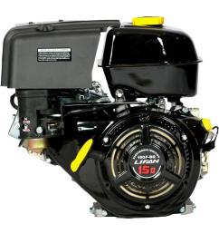 15 hp 420cc ohv electric start horizontal keyway shaft gas engine with 18 amp charger [ 1000 x 1000 Pixel ]