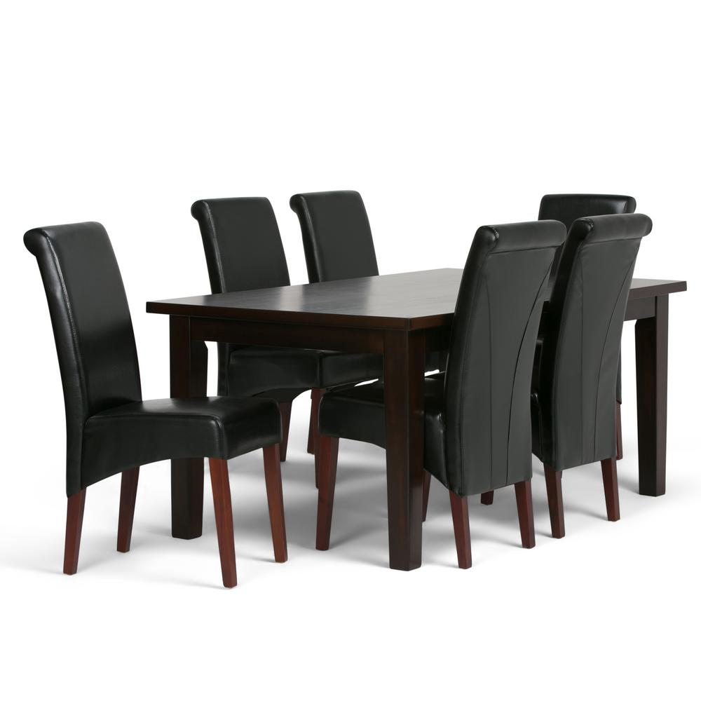 Dining Chair Set Of 6 Simpli Home Avalon 7 Piece Dining Set With 6 Upholstered Dining