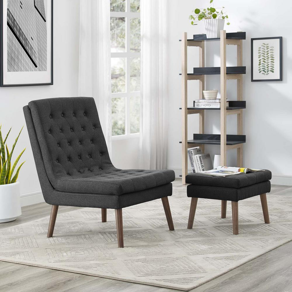 chairs and ottomans upholstered cheap chair sashes modway modify lounge ottoman in gray eei 2988 gry the home depot