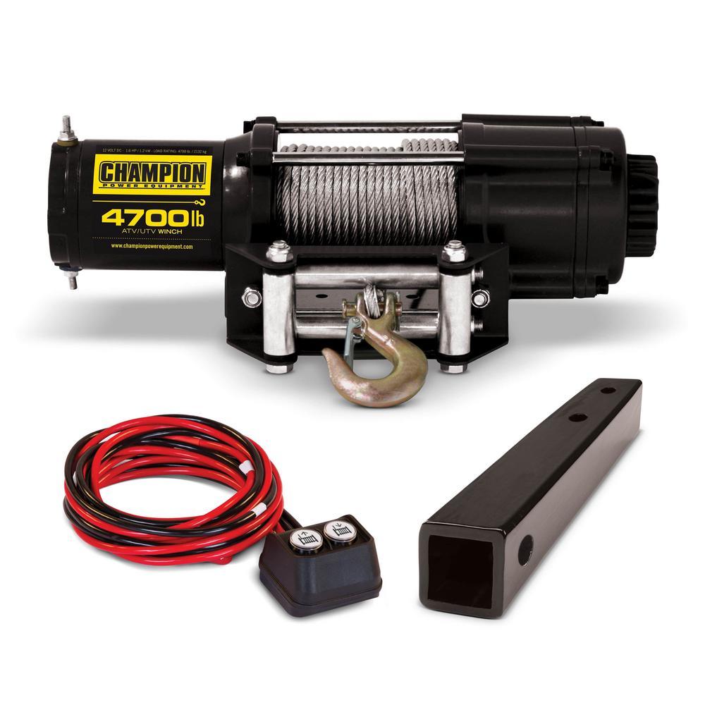 medium resolution of 12 volt atv utv winch kit