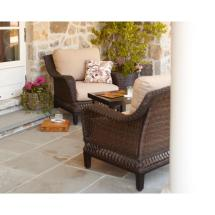 Hampton Bay Woodbury 3-piece Wicker Outdoor Patio Chat Set