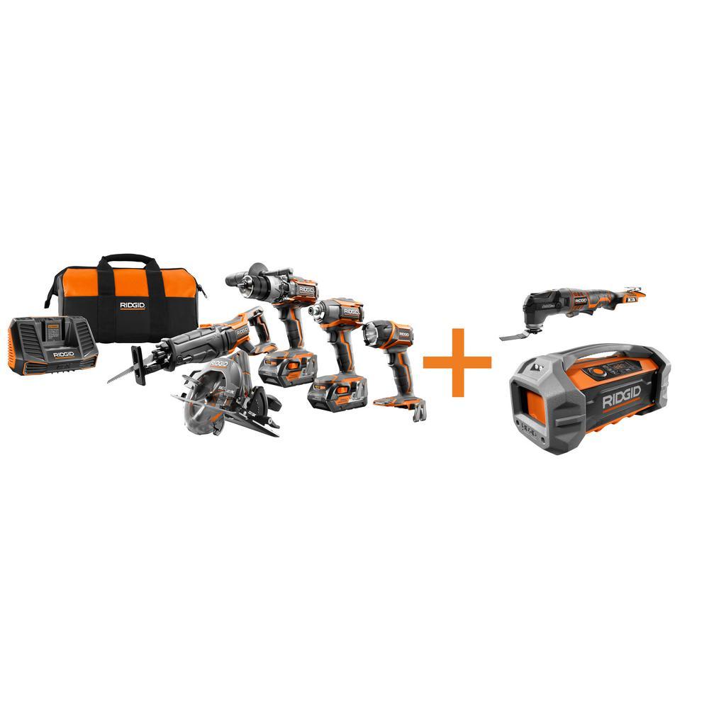 RIDGID 18-Volt GEN5X Cordless Lithium-Ion Combo Kit (7