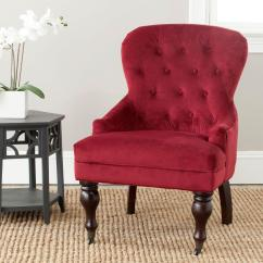 Red Chairs For Sale Office Chair Gas Lift Cylinder Replacement Safavieh Falcon Velvet Java Cotton Arm Mcr4544e