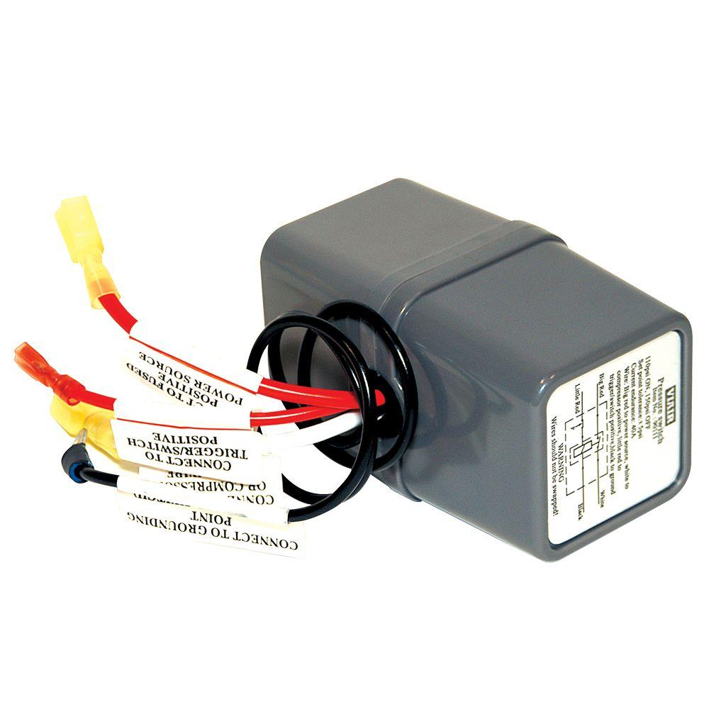 medium resolution of 12 volt 110 145 psi pressure switch with relay