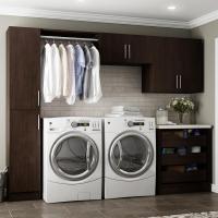 Modifi Madison 60 in. W White Open Shelves Laundry Cabinet ...