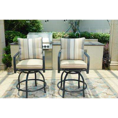 bar height outdoor chairs rocking chair for nursery stools furniture the home depot swivel metal stool with beige cushion 2 pack