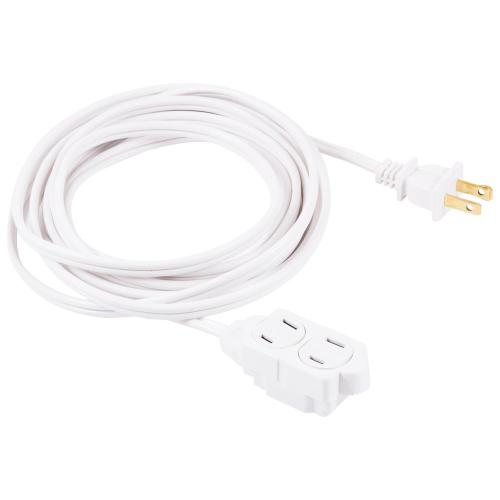 small resolution of 2 wire 16 gauge polarized indoor extension cord white