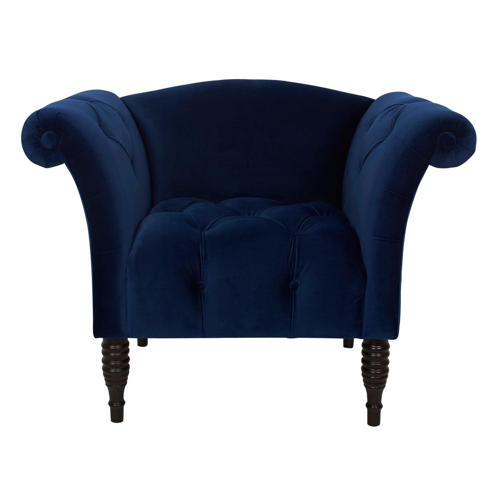 navy blue velvet club chair slipcover for and a half jennifer taylor danica hand tufted arm 60040