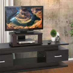 Entertainment Units Living Room Wooden Center Tables Corner Unit Tv Stands Furniture The Home Depot Indo Espresso Swivel Shelf For