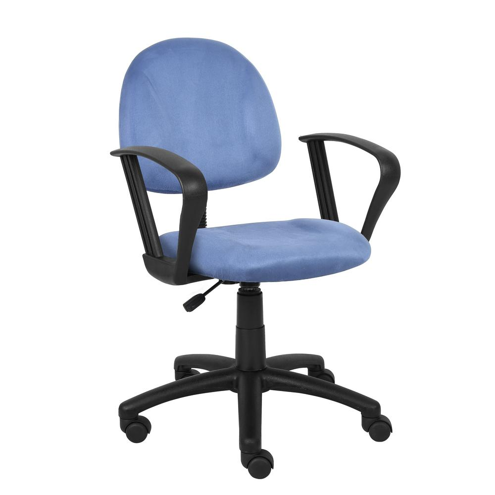 posture deluxe chair strap patio chairs boss blue microfiber with loop arms b327 be