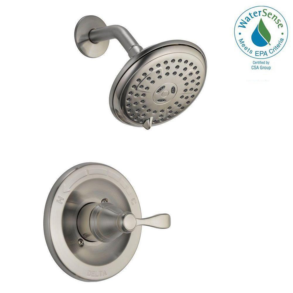 Delta Porter SingleHandle 3Spray Shower Faucet in Brushed Nickel142984BNA  The Home Depot