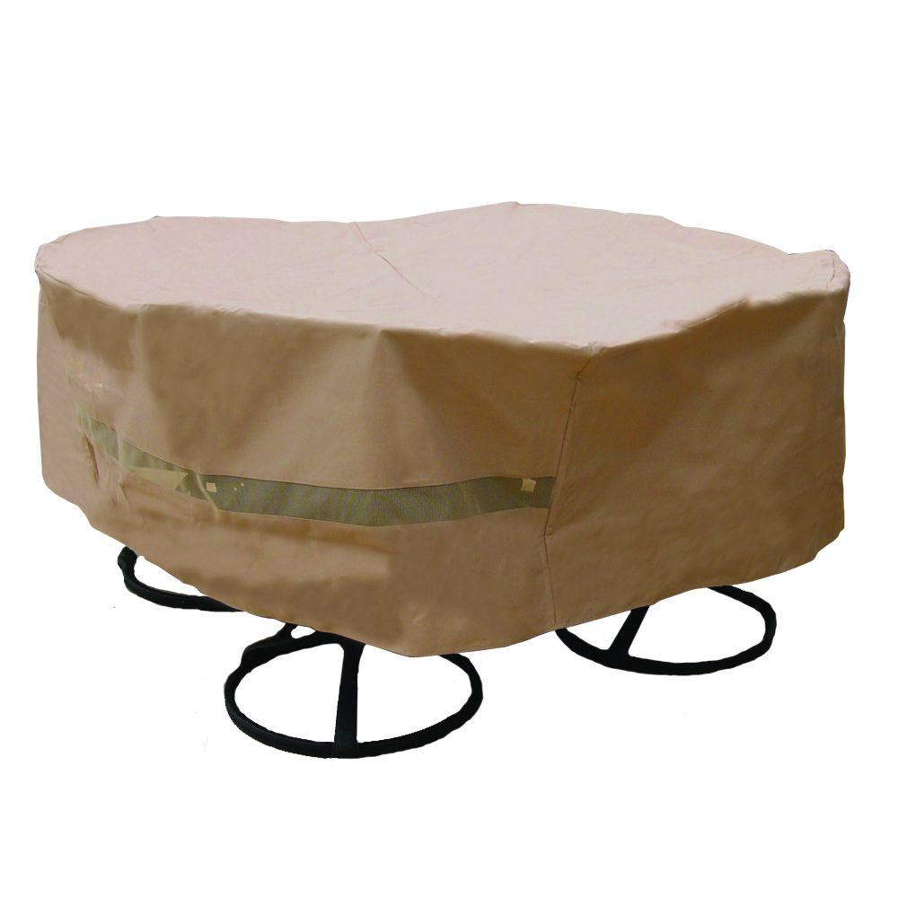 Hearth  Garden Polyester Original Round Patio Table and Chair Set Cover with PVC CoatingSF40227  The Home Depot