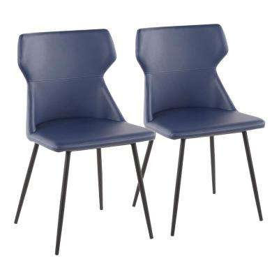 leather dining chairs modern steelcase criterion chair faux blue kitchen room furniture hex contemporary