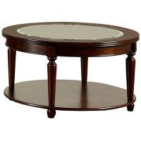 Furniture of America Granvia Dark Cherry Coffee Table ...