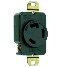legrand pass and seymour 30 amp 250 volt 3 wire grounding locking single outlet [ 1000 x 1000 Pixel ]