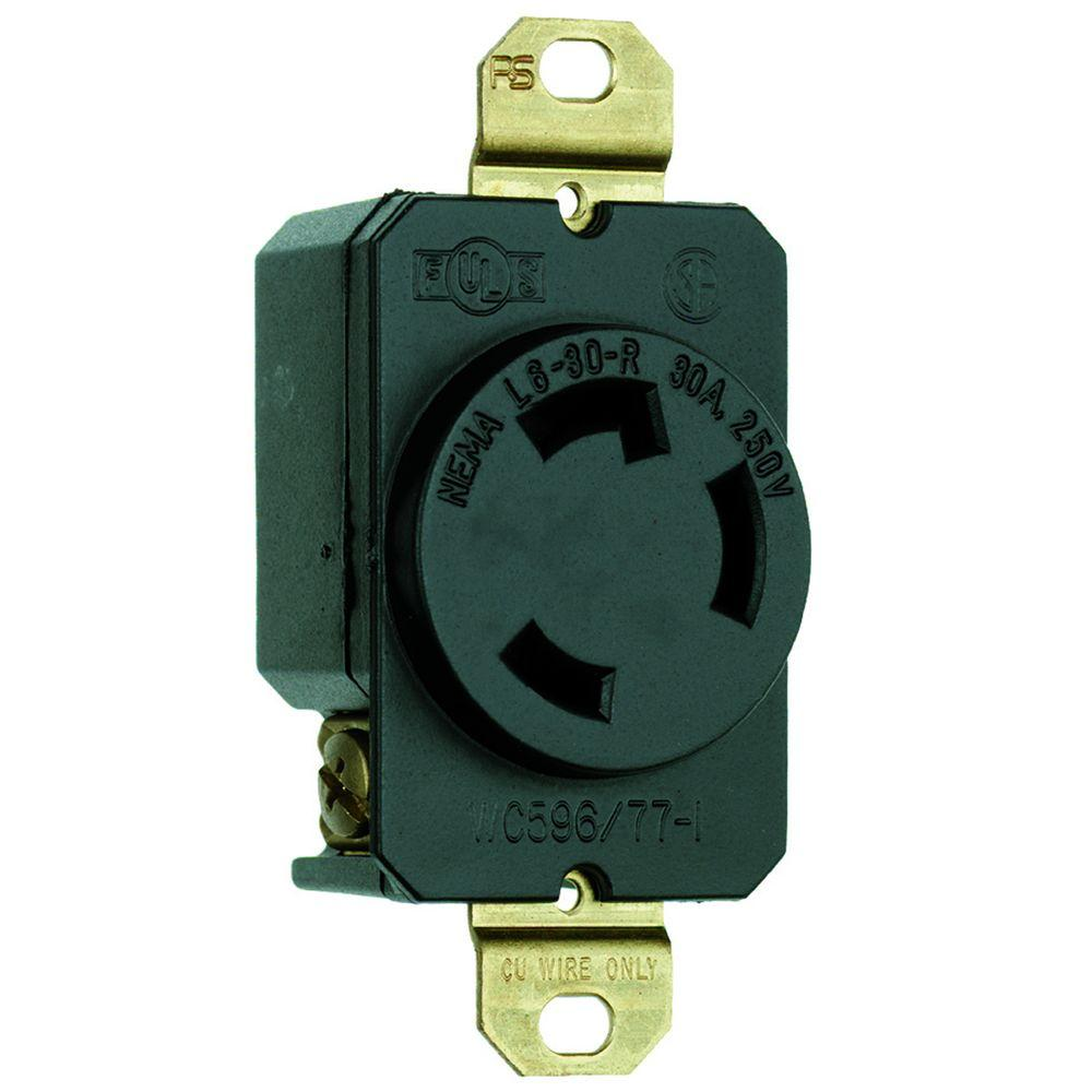 medium resolution of legrand pass and seymour 30 amp 250 volt 3 wire grounding locking wiring 4 prong dryer plug outlet also receptacle 220 volt 20 outlet