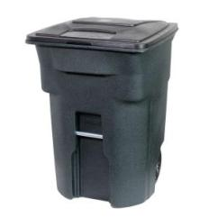 Home Depot Kitchen Trash Cans Country Faucets Toter 96 Gal. Green Can With Wheels And Attached Lid ...