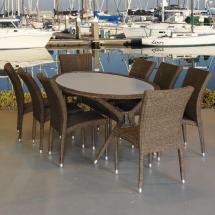 Atlantic Contemporary Lifestyle Bari Oval 9-piece