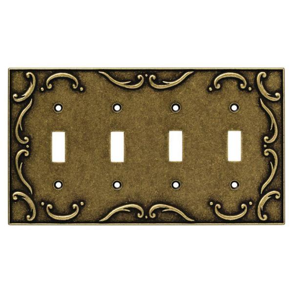 Liberty French Lace Decorative Quadruple Switch Plate