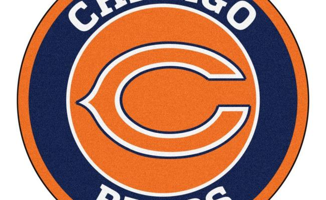 Fanmats Nfl Chicago Bears Navy 2 Ft X 2 Ft Round Area