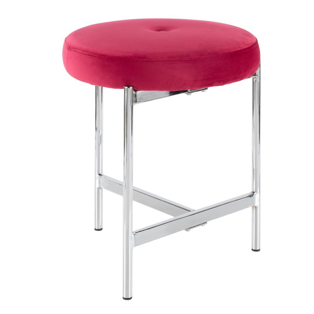 pink vanity chair cosco step stool lumisource chloe 18 in velvet and chrome b17