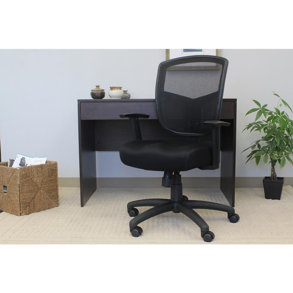 mesh task chair white farmhouse kitchen table and chairs boss black contract b6022 the home depot