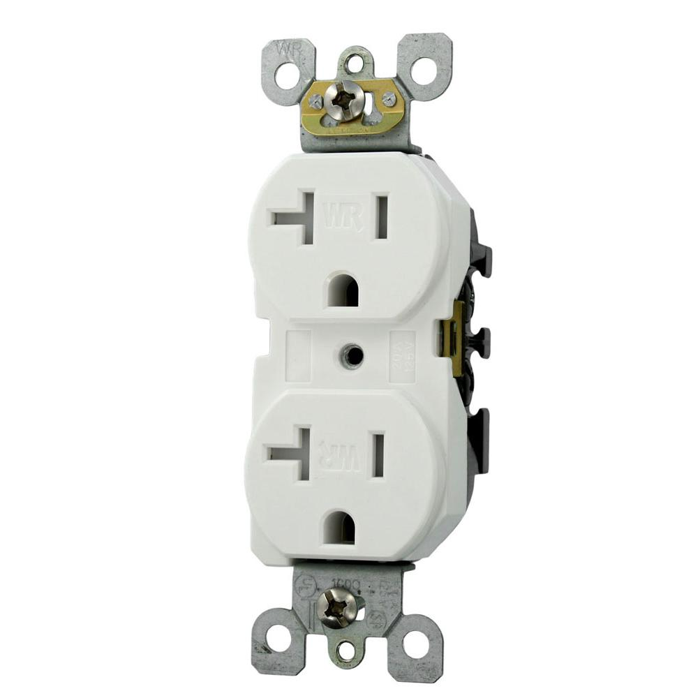duplex receptacle diagram saturn wiring leviton 20 amp residential grade weather and tamper resistant self grounding outlet white
