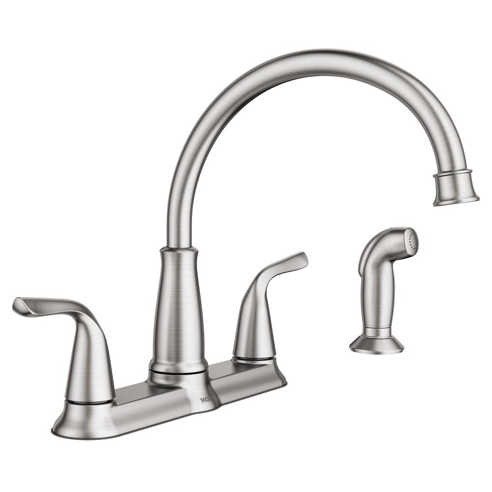 MOEN Brecklyn 2Handle Standard Kitchen Faucet with Side