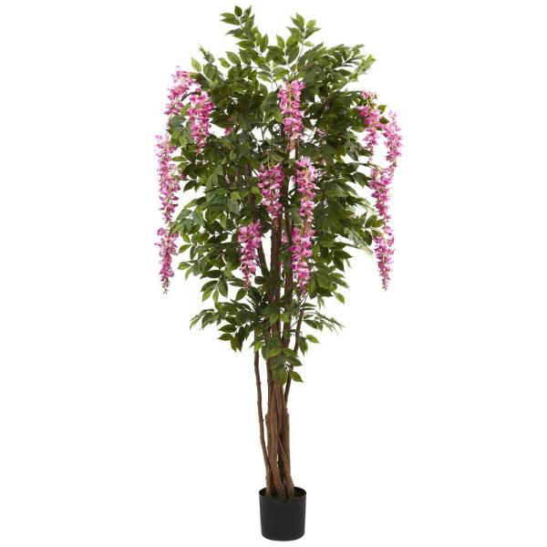 Natural 6.5 Ft. Wisteria Silk Tree-5349 - Home