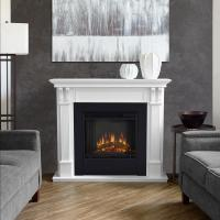Real Flame Ashley 48 in. Electric Fireplace in White-7100E ...