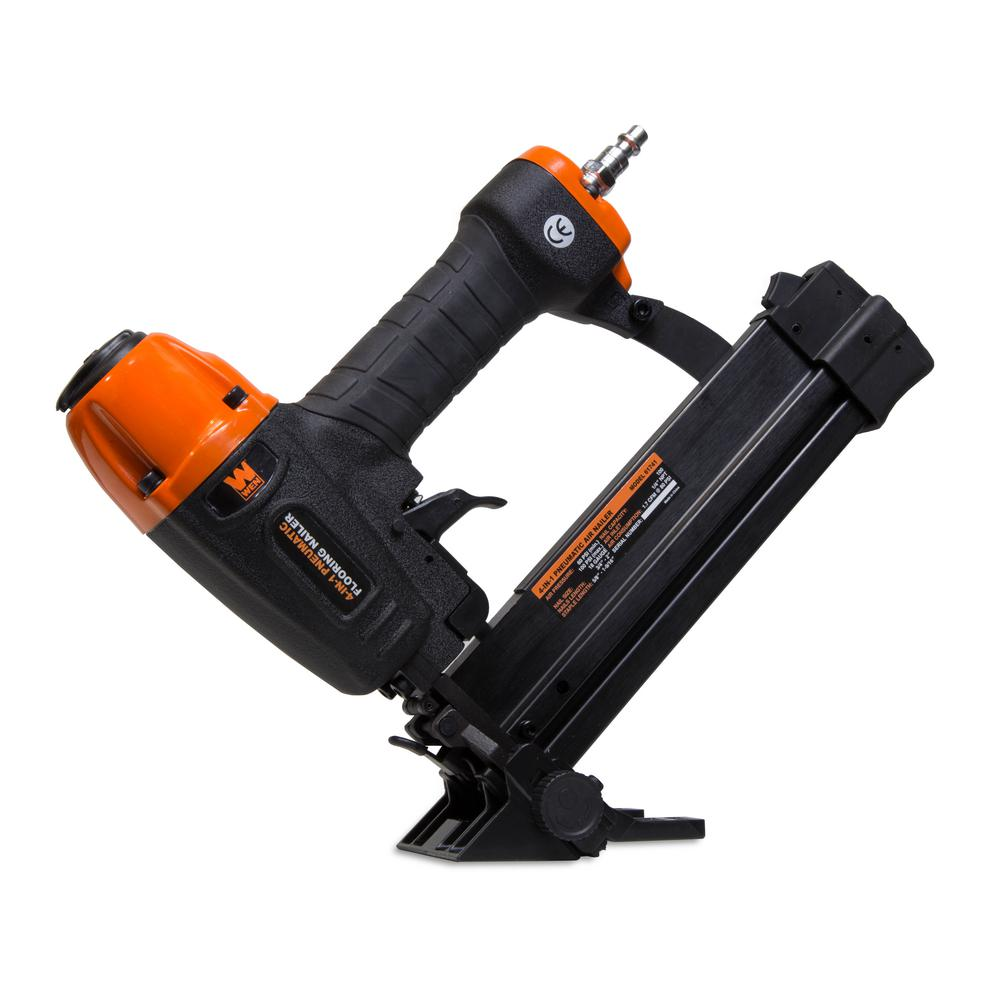 WEN 4in1 18Gauge Pneumatic Flooring Nailer and Stapler61741  The Home Depot