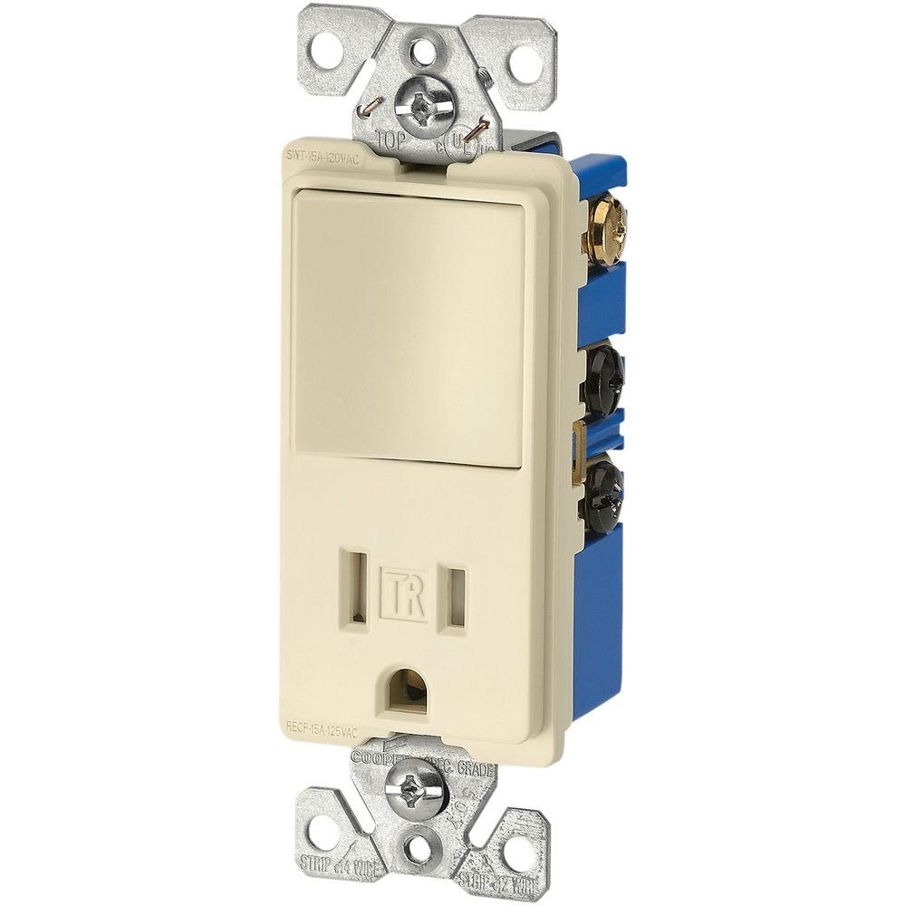 medium resolution of eaton 15 amp 3 wire tr receptacle 120 volt decorator combination single pole