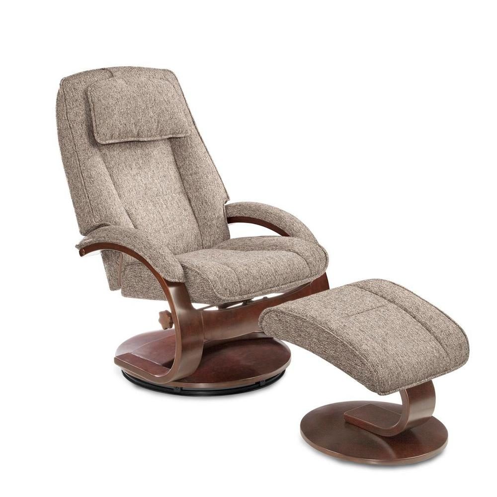 oslo posture chair review samsonite folding chairs mac motion collection teatro graphite fabric swivel recliner with ottoman