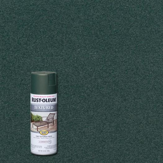 Rust Oleum Stops 12 Oz Textured Forest Green Protective Enamel Spray Paint