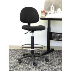 Office Chair Vs Stool Fabric Drafting Chairs Home Furniture The Depot Black Armless